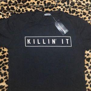 Killin it crop top